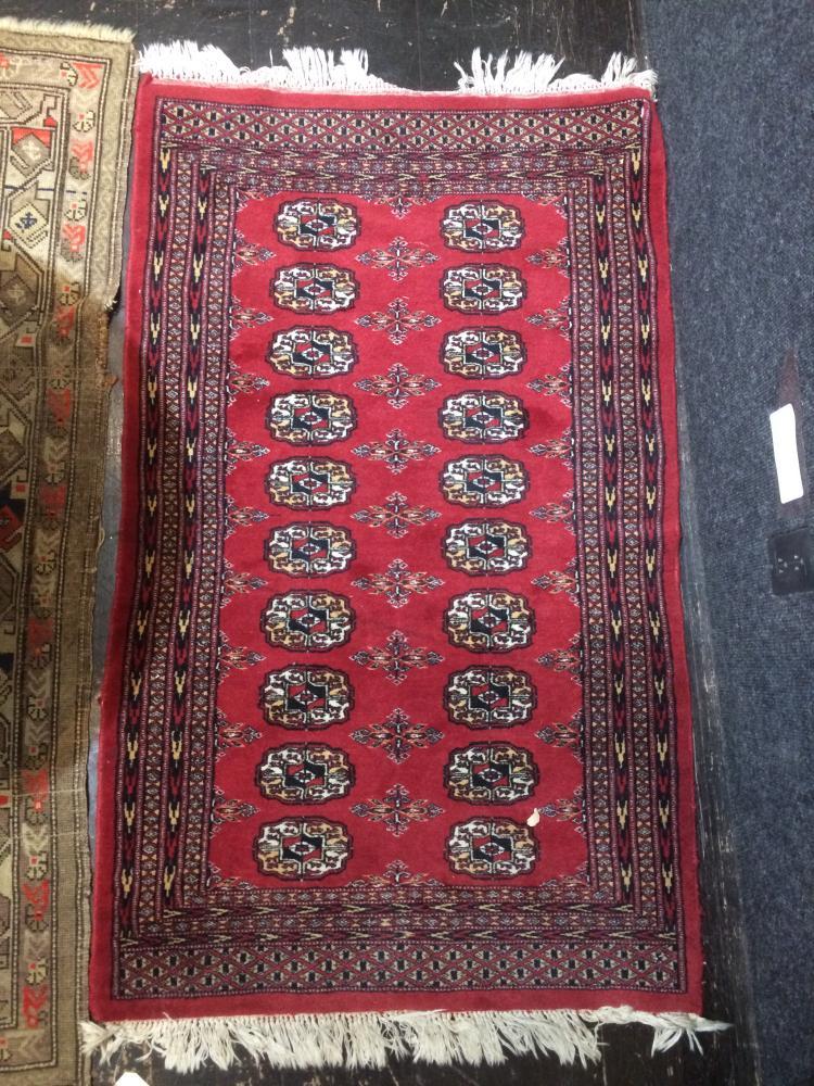 "Turkoman scatter rug, 30"" x 50"""