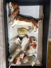 Box lot-dog figurines