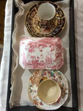 Box lot-Royal Crown Derby box and C&S