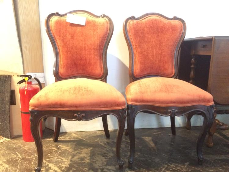 Pair of upholstered side chairs-Ambassador