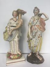 Two ceramic figurines, two seasons, c.1750