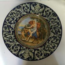 Large Majolica plate, c.1900