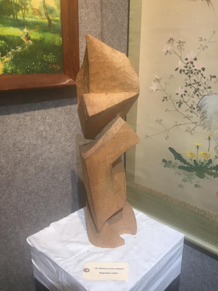 Abstract wood sculpture-Pepperdine estate