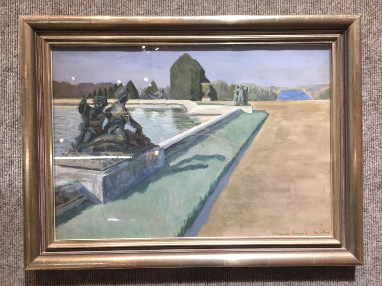 Painting: Versailles, Alexandre Benois-Ambassador