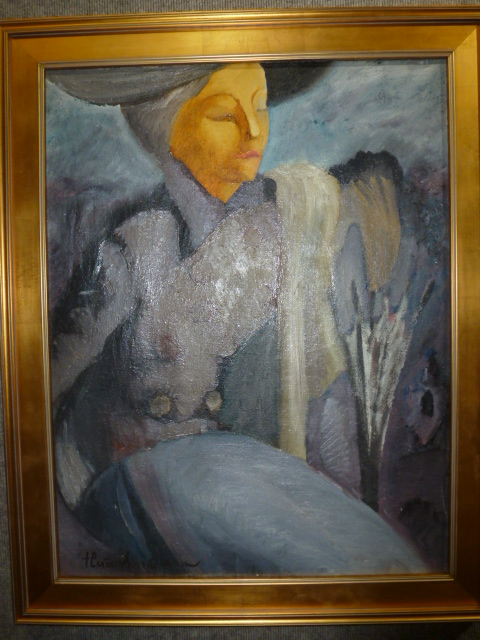 Woman with umbrella, painting by Nathan Isaevich Altman, c.1930-Ambassador