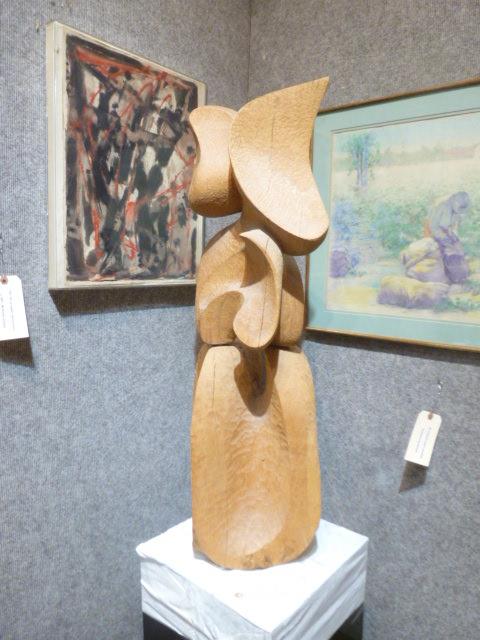Wood sculpture, Pepperdine Estate-Two pieces