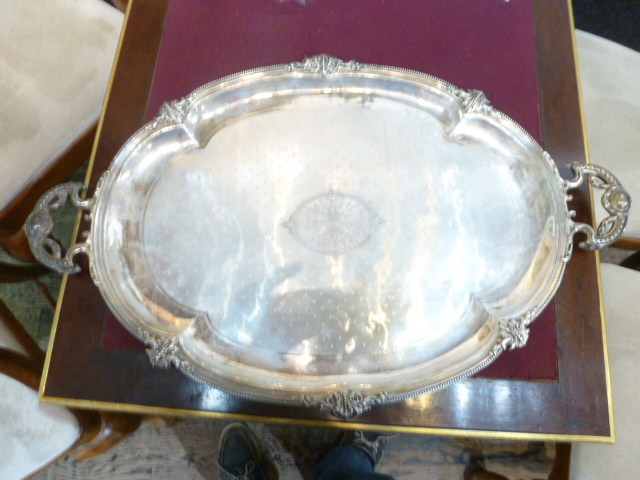 French sterling tray by Charles Harleux, 70.8 t. oz-Ambassador Estate