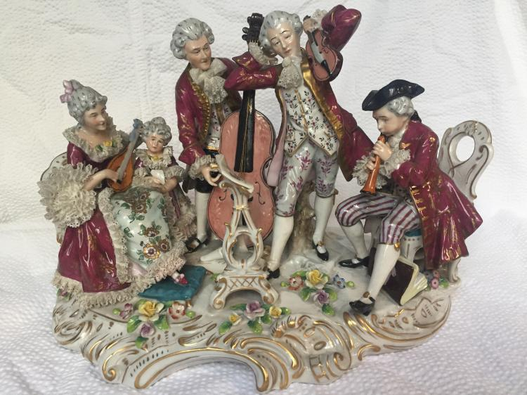 Porcelain group-18th century musical group