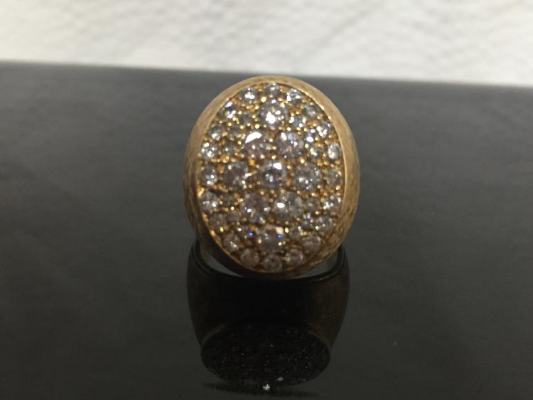 18k ring with diamonds, 9.4 dwts