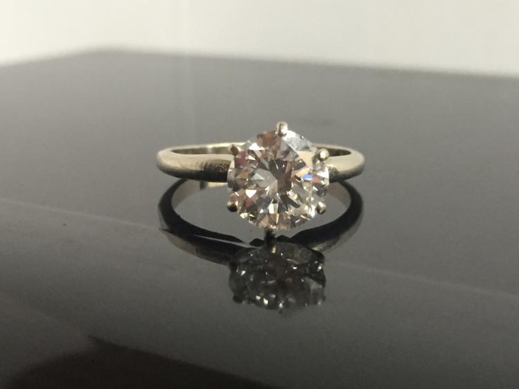 Diamond solitaire ring, VS1, GIA report