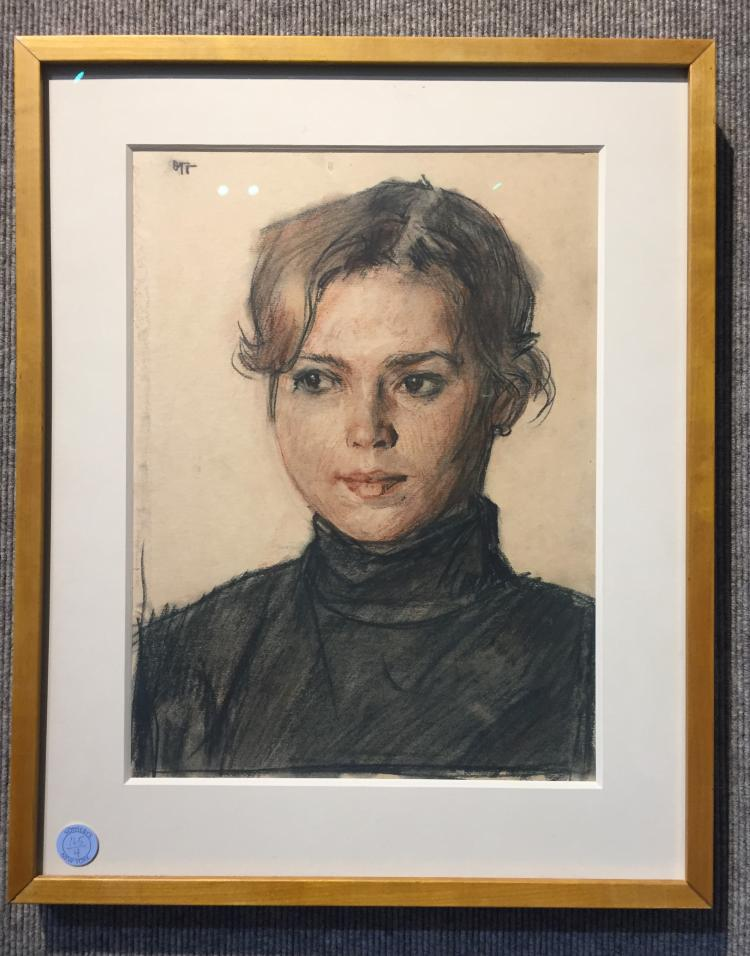 Drawing of a girl by Oleg Grosse, Ambassador
