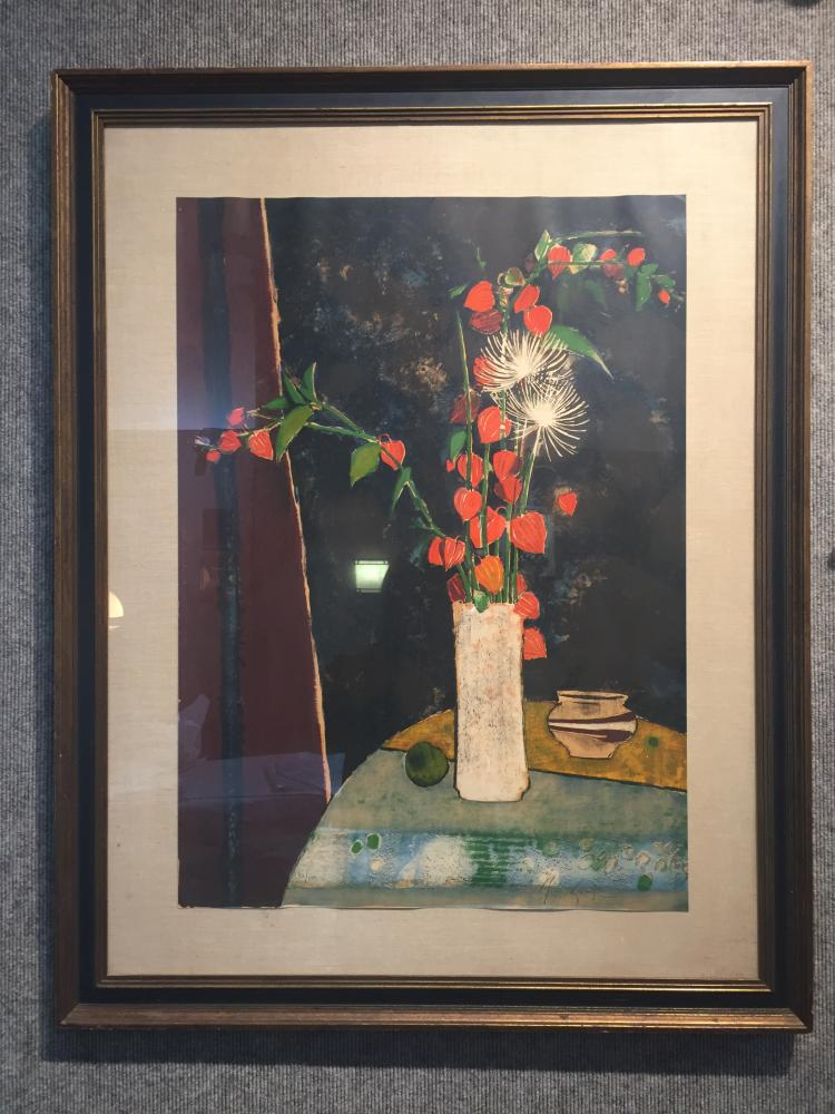 Large print by Rene Genis, signed