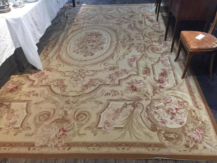 "Large Aubusson wool carpet,167"""