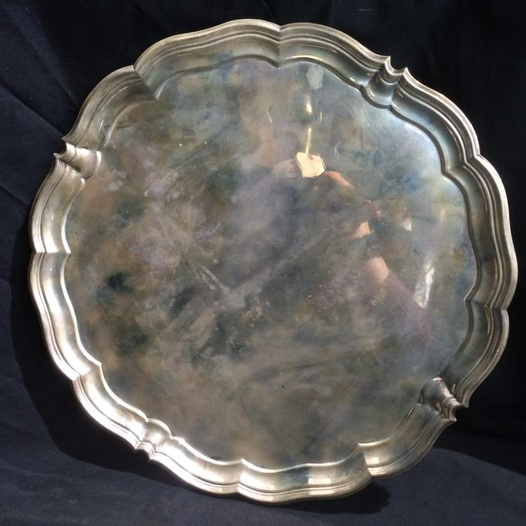 English sterling footed tray-Ambassador, 30 t. oz
