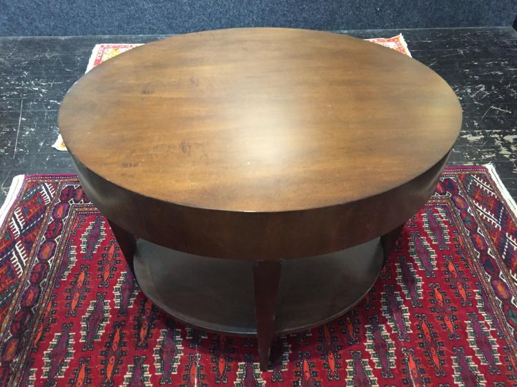 Oval wood table, 20th century
