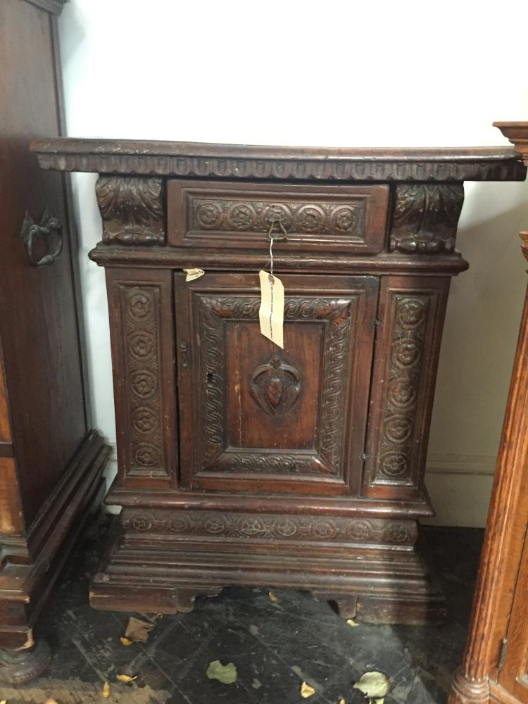 17th century small cabinet with door