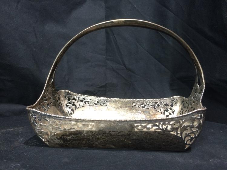 Box lot-800 silver basket, 14.9 t. oz