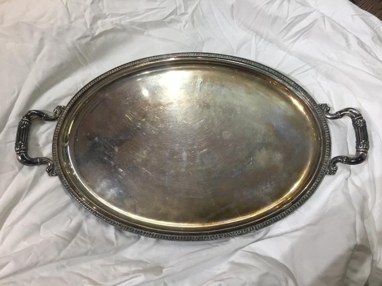 Large 800 Italian silver serving tray, 67 t. oz-Ambassador Estate