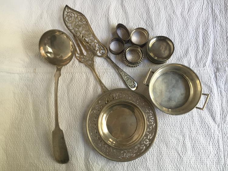 Box lot-800 silver items, 49.4 t. oz