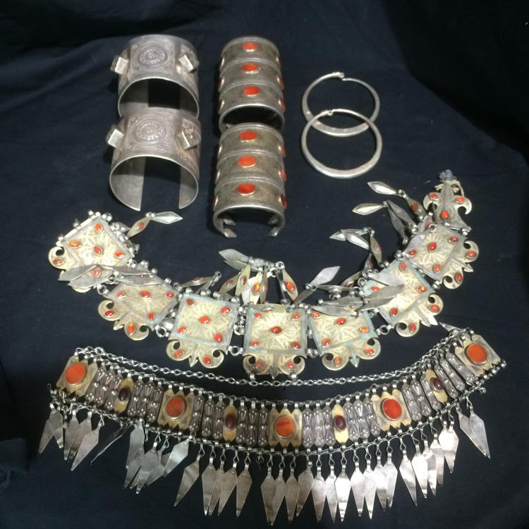 Box lot-Tribal jewelry with hoop earrings-Ambassador Estate