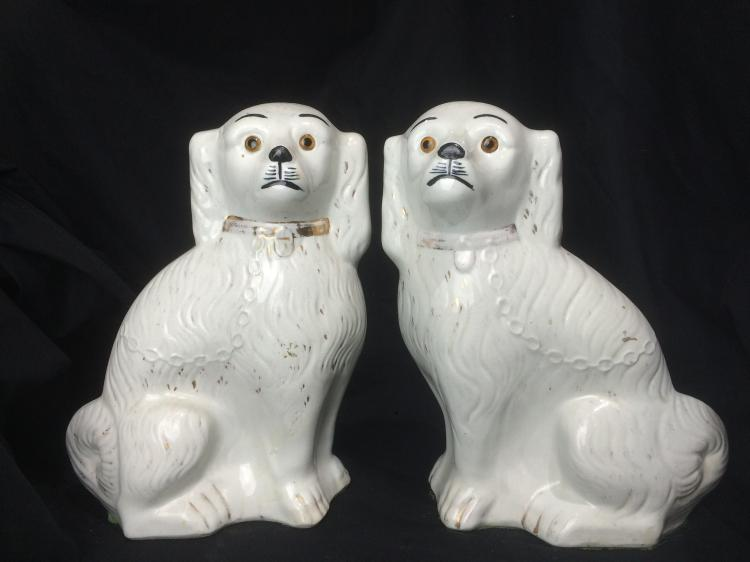 Pair of Staffordshire dogs, c.1930
