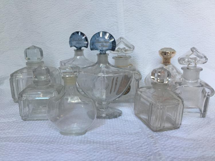 Box lot-Nine perfume bottles
