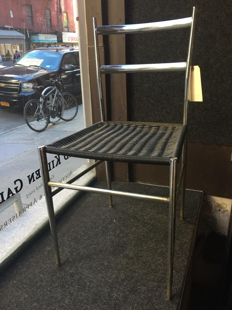 Pair of modern steel chairs, c.1970