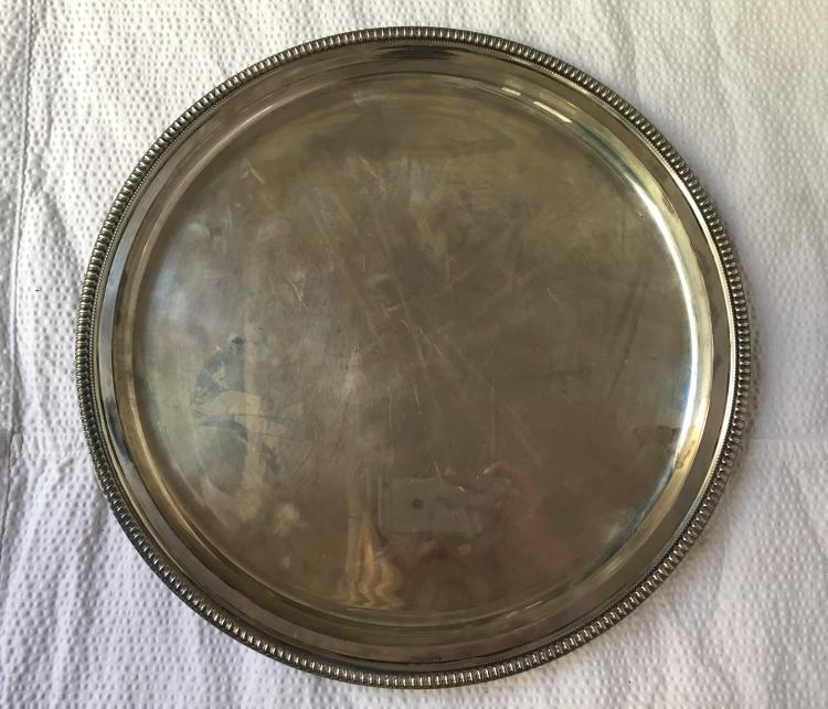 800 round silver tray, Ambassador Estate, 18.4 t. oz