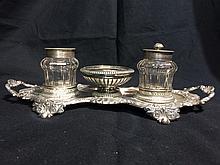Austrian/German silver inkwell-13 mark-crown, 7.7 t. oz