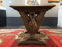 Carved wood swan table, c.1930