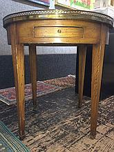 Circular Neoclassical wood table
