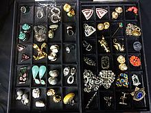 Box lot:forty-four pieces of costume jewelry