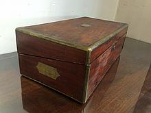 Traveling wood writing desk, c.1900