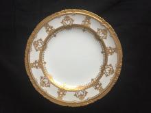 Nine Tiffany & Co Royal Crown Derby gilt plates