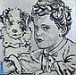 BROMLEY, David (b.1960) Boy and His Dog Acrylic