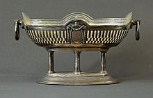 Empire Style Silver Plate & Glass Bowl. Silver