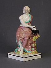 Geo Staffordshire Figure of Elijah. Square based.