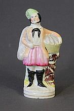 Vict Staffordshire Figure of Fisherman. Probably