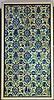 Circa 17th C Panel of 8 Damascus Tiles  112x57cm