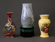 3 Various Porcelain Vases. Incl. Copenhagen;