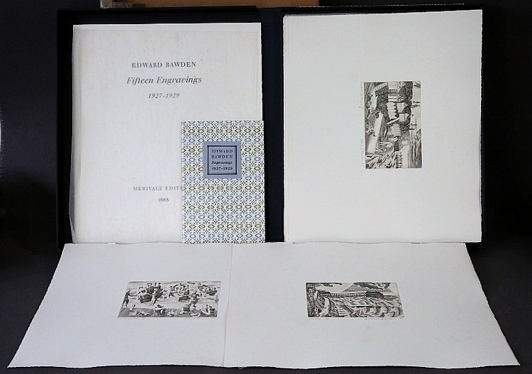 BOOK of ENGRAVINGS by EDWARD BAWDEN. BAWDEN,
