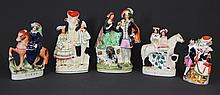 5 Various Staffordshire Flatback Figures. Incl.