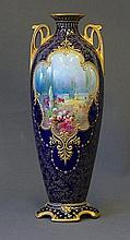Royal Doulton Dual Handled Vase. Painted