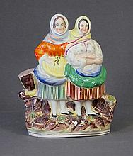 Vict Staffordshire Figure of Working Women.