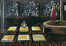 MATASSONI, Terry (b.1959) 'Time Alone,' 1994. Gouache & Pastel