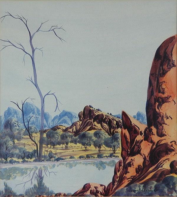 EBATARINJA, Arnulf (b.1931) Central Australia