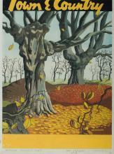 KERMODE William (1895-1959), Autumn Trees, Gouache, 38x28cm