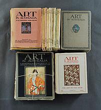 BOOKS, Art in Australia, Complete Set, Series 1-4 1916-1942