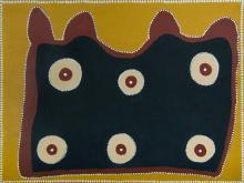 JUBARTJARRI, Jock Mosquito (b.1944) - Untitled, 2005. Signed verso. Inscribed Warmun Art Centre cat #WAC026/05