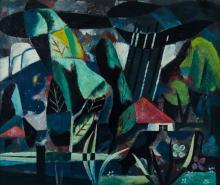KEMBLE, Herbert (1894-1986) - 'Farm Landscape with Storm'